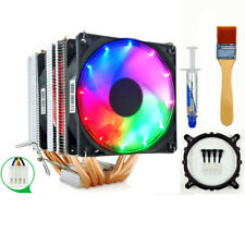 6 Heat Pipe CPU Cooler Fan 4 Pin PWM Quiet for PC CPU Fan Intel and AMD CPUs