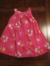 Gymboree Girls Pink Polka Dot Ladybug Floral Lined Cotton Dress Sundress 2T EUC