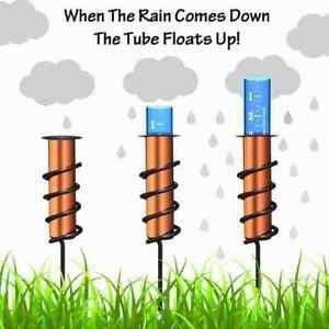 Der coolste Kupfer-Regenmesser der Welt Genauer schwimmender Regenmesser