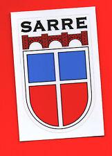 SAARLAND-ALTES WAPPEN DES SAARSTAATES 1947-1956-SARRE-auf Folie :5 x 9 cm-GLANZ-