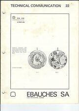 Technical Communication 22 2001, Watch R Mg-070 - Ebauches Sa, Neuchatel Suisse,