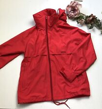 Helly Hansen Red Removable Hood Packable Anorak Light Jacket Parka Mens Small V