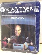 """1999 Star Trek:Next Gen Lenticular 7.5"""" Mousepad-Unused-Free S&H (C6097)"""
