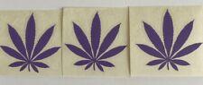 MARIJUANA POT LEAF Wholesale Three (3) Purple Vinyl Decal Stickers Window.
