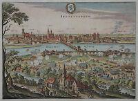 Ingolstadium - Ingolstadt - Gesamtansicht von Merian 1650
