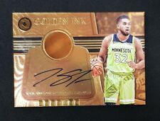 2017-18 Opulence Karl-Anthony Towns Golden Ink 14k Gold Auto #20
