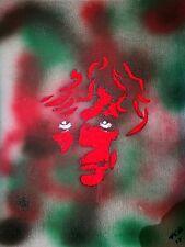 Original Contemporary Spray Paint Game of Thrones Tyrion Signed Art