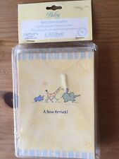Carters John Lennon Baby Birth Announcements Yellow Card Real Love Animal Parade