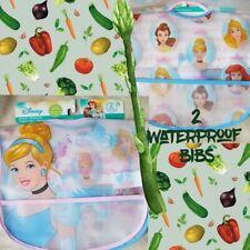 Toddler bibs lot of 2 waterproof New Princess
