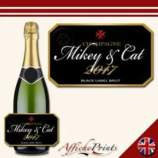 L22 Personalised Celebration Champagne Brut Bottle Label - Perfect Any Occasion!