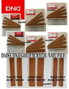 DAISY DND Professional GOLD Acrylic Nail Files - Your Choice!