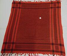 black & orange 24 Scarf Arab Arafat  Shemagh Cotton Palestine Kefiyyeh