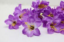 30pcs Lily flower Head Artificial Silk Flower Heads Wedding Dia 5cm Purple Color