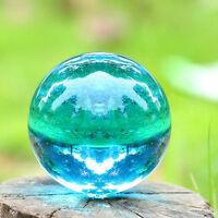 40mm Asian Rare Natural Quartz Sea Blue Magic Crystal Healing Ball Sphere +stand