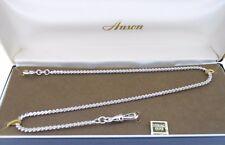 Waldemar Vest Chain Anson Sterling silver serpentine links with swivel