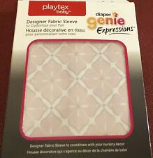 Playtex Diaper Genie Diaper Pail Cover Fabric Sleeve Design Pink Starburst C4