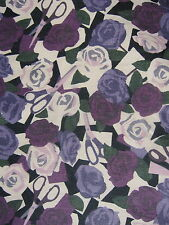 PAPER ROSES  80 CMS  in PURPLE by LIBERTY on TANA LAWN COTTON