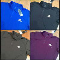 adidas Logo Men's Polo Shirt Climalite Size M, L, XL, XXL New