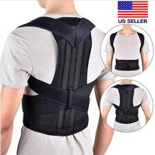 For Men Women Adjustable Low Back Support Shoulder Brace Belt Posture Corrector