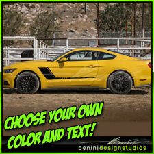 2015 & up Ford Mustang GT Custom Hockey Stripes 1 color 2016 2018 2019 Style 2