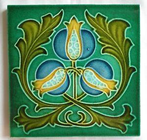 Art nouveau/Arts & Crafts tile.Corn Bros. C 1905.