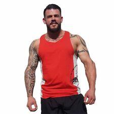 Brachial Tank-Top Squat Red/Grey Fitness Bodybuilding