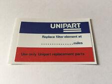 Unipart Replace Filter Element Date Sticker for Mini Metro Maestro Rover Austin