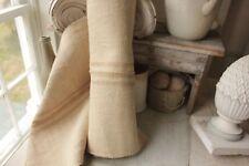 Grain sack grainsack fabric vintage linen 5.2 yd table / Stair runner upholstery