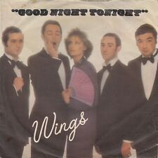 "WINGS GOOD NIGHT TONIGHT MCCARTNEY BEATLES 1979 RECORD YUGOSLAVIA 7"" PS"