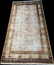 Authentic 19th Century Worn Out East Turkestan Khotan Rug