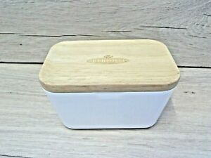 Butter Dish with Wood Lid Bertolli