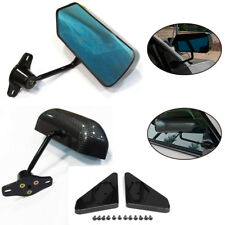 2PCS Universal F1 Carbon Fiber Look Car Racing Side Rear View Mirror Cafe Racer