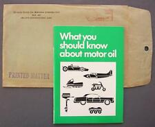 Original 1970 Quaker State Oil Refining Corp Motor Oil 35 Pg Brochure & Envelope