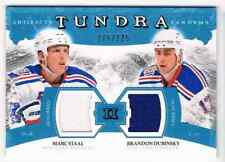 2011-12 ARTIFACTS TUNDRA TANDEMS JERSEYS BLUE MARC STAAL BRANDON DUBINSKY DUAL