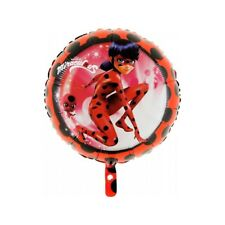 "PALLONCINO LADY BUG MIRACULUS 45 cm diam 18"" TONDO in MYLAR FESTA PARTY"