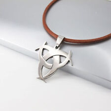 Stainless Steel Beach Nautical Leather Fashion Necklaces & Pendants
