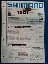 Original Fahrrad Prospekt SHIMANO Tech News Nr. 1 2000