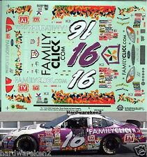 NASCAR DECAL #16 FAMILY CLICK.COM 2000 FORD TAURUS  KEVIN LePAGE SLIXX