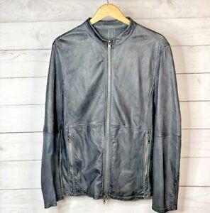 GMS-75 Dark Grey Reversible Leather/Suede Jacket Men's Size Medium XL
