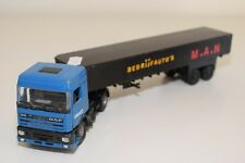 1:50 LION CAR DAF 95 TRUCK WITH TRAILER GRENCO MAN EXCELLENT CONDITION REPAINT