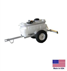SPRAYER Commercial & Farm - Trailer Mounted - 25 Gallon Tank - with 4 Ft Boom