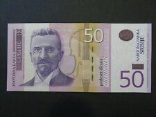 Serbien Banknote 50 Dinara 2014 fast kassenfrisch (AU)