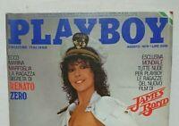 PLAYBOY ITALIA 8 AGOSTO 1979 RENATO ZERO JAMES BOND CINZIA DE CAROLIS