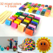 32 Mixed Color Set Oven Bake Polymer Soft Clay Modelling Moulding DIY Toys Tools
