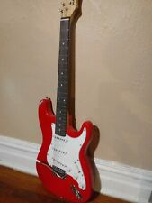 """New Listing""""Strat Style"""" Red Electric Guitar 39"""" (6) String Rh"""