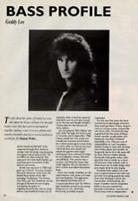 Rush Geddy Lee UK 'Guitarist' Interview Clipping OBLIQUE