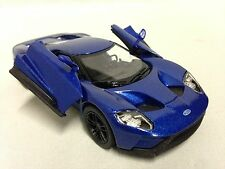 "2017 Ford GT, 5"" Diecast Metal 1:38 Scale ,Pull Back Action,Toys Boys Girls,Blue"