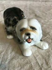 Vintage Ceramic Figurine Bearded Collie Shaggy Dog