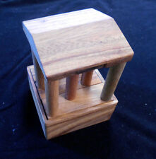 Temple of Doom Wood brain teaser puzzle - build a temple with 9 column CLEARANCE
