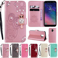 Bling Owl Wallet Leather Flip Case Cover For Samsung S20 S10 S9 Plus A21 A51 A41